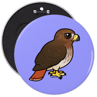 Red-tailed Hawk 6 Inch Round Button