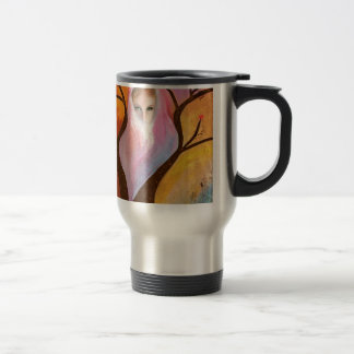 Red Tailed Hawk and Red Skies Travel Mug