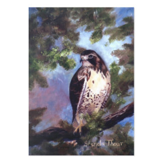 Red Tailed Hawk Art Card Large Business Cards (Pack Of 100)