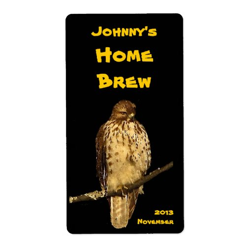 Red Tailed Hawk Beer Label | Zazzle