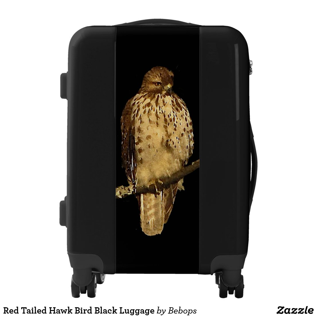 Red Tailed Hawk Bird Black Luggage