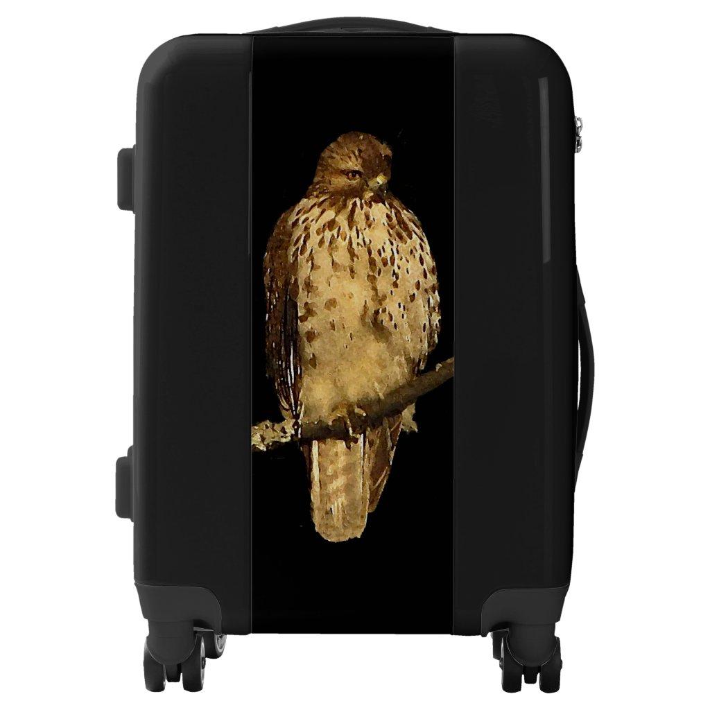 Red Tailed Hawk Bird Black Luggage