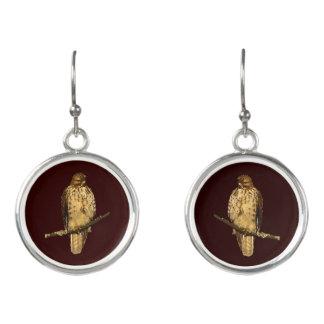 Red-Tailed Hawk Bird Drop Earrings