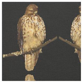Red Tailed Hawk Bird Fabric