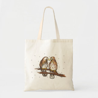 Red-Tailed Hawk Birds Snow Winter Christmas Bag