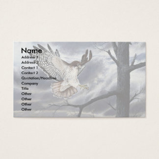Red-tailed hawk business card
