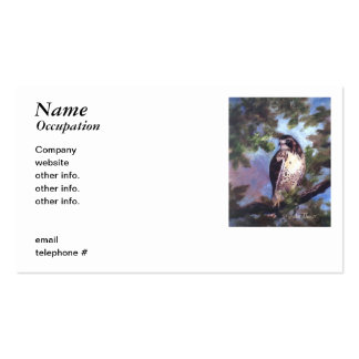 Red Tailed Hawk Business Cards