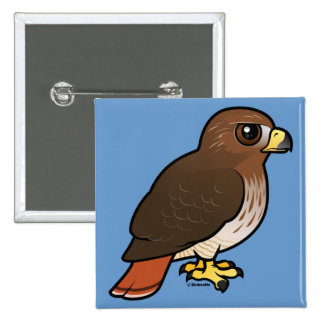 Red-tailed Hawk 2 Inch Square Button