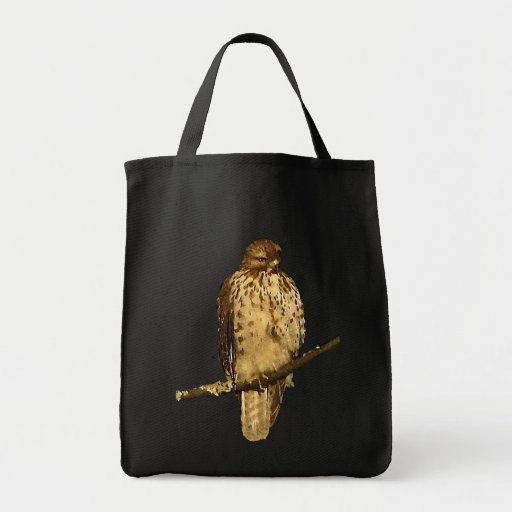 Red Tailed Hawk Canvas Bag
