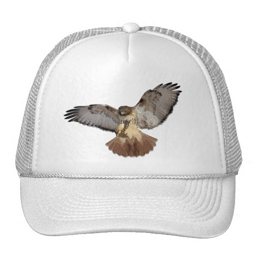 Red-tailed Hawk Cap Mesh Hats