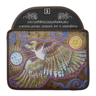 Red Tailed Hawk + Chrysanthemum Mandala Sleeves For MacBooks