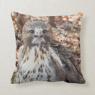Red Tailed Hawk Doubled Throw Pillows