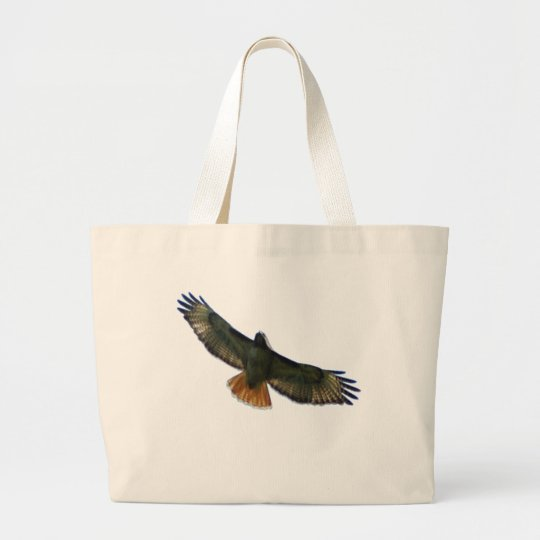 RED TAILED HAWK FLYING LARGE TOTE BAG