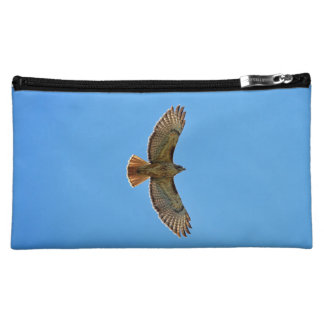 Red-Tailed Hawk in Flight Makeup Bag