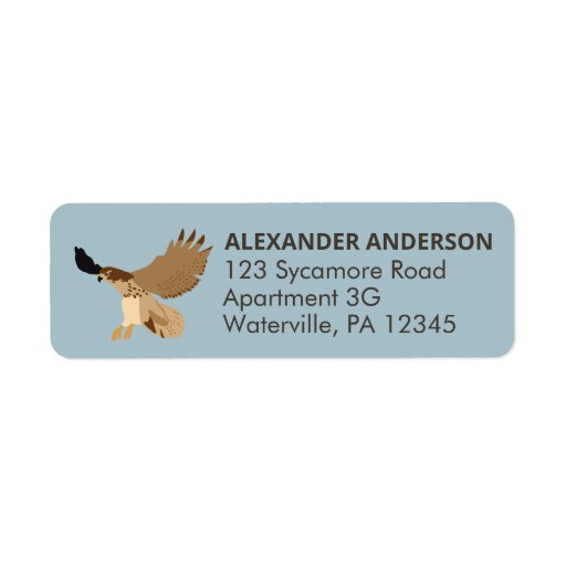 Red-Tailed Hawk in Flight Personalized Label
