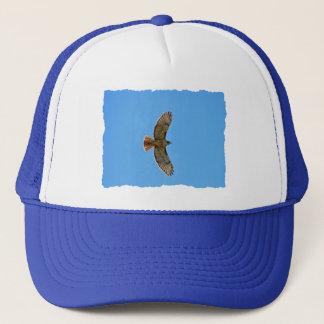 Red-Tailed Hawk in Flight Trucker Hat