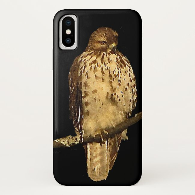 Red Tailed Hawk iPhone X Case