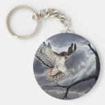 Red-tailed hawk key chain