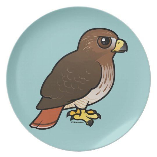 Red-tailed Hawk Melamine Plate