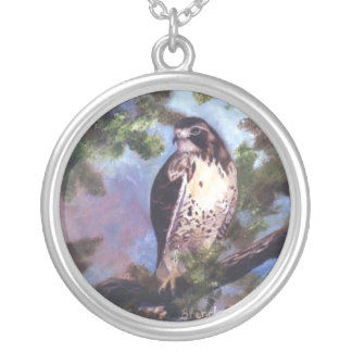 Red Tailed Hawk Necklace