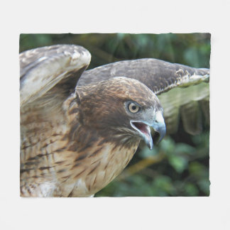 Red-tailed Hawk Photo Medium Fleece Blanket