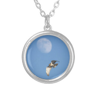 Red-tailed Hawk Silver Plated Necklace