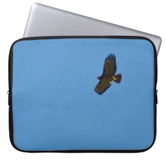 Red-Tailed Hawk Soaring Computer Sleeve