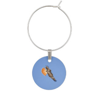 Red-tailed Hawk Wine Glass Charm