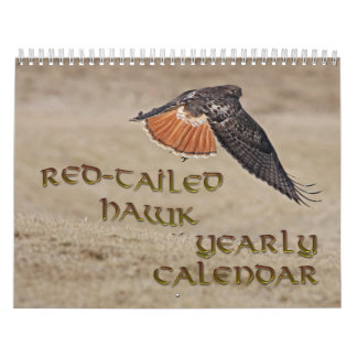 Red-tailed Hawk Yearly Calendar