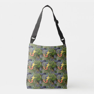 red-tailed mermaids crossbody bag