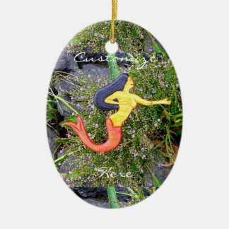 red-tailed sirena mermaid beauty ceramic ornament
