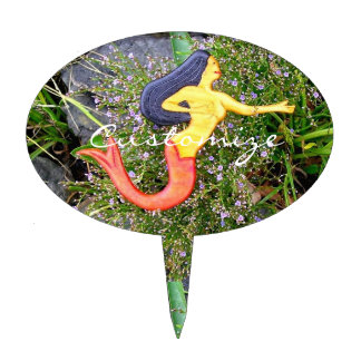 red-tailed sirena mermaid cake topper