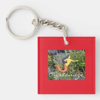 red-tailed sirena mermaid keychain