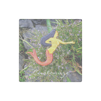 red-tailed sirena mermaid stone magnet