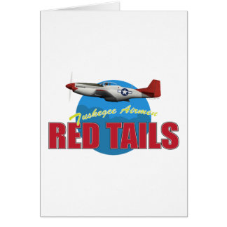 Red Tails Tuskegee Airmen with P-51 Card