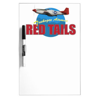 Red Tails Tuskegee Airmen with P-51 Dry Erase Whiteboards