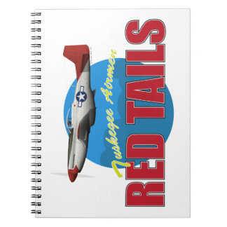 Red Tails Tuskegee Airmen with P-51 Spiral Notebooks
