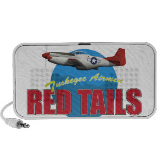 Red Tails Tuskegee Airmen with P-51 Laptop Speakers