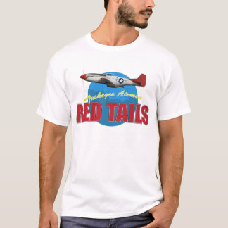 Red Tails Tuskegee Airmen with P-51 T-Shirt