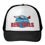 Red Tails Tuskegee Airmen with P-51 Trucker Hat