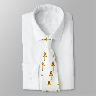 RED TALISMAN / Gold Ankh,White Tie