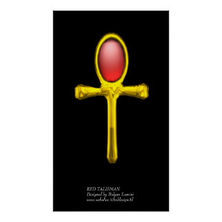RED TALISMAN ,red yellow Poster