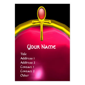 RED TALISMAN RUBY MONOGRAM bright  yellow pink Large Business Card