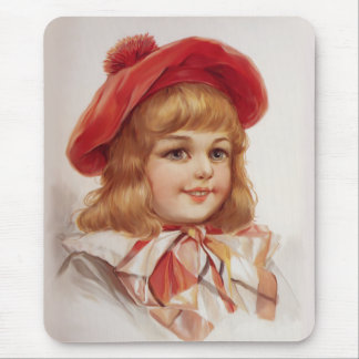 Red Tam Girl Mouse Pad