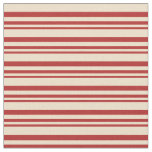 [ Thumbnail: Red & Tan Colored Lines Pattern Fabric ]