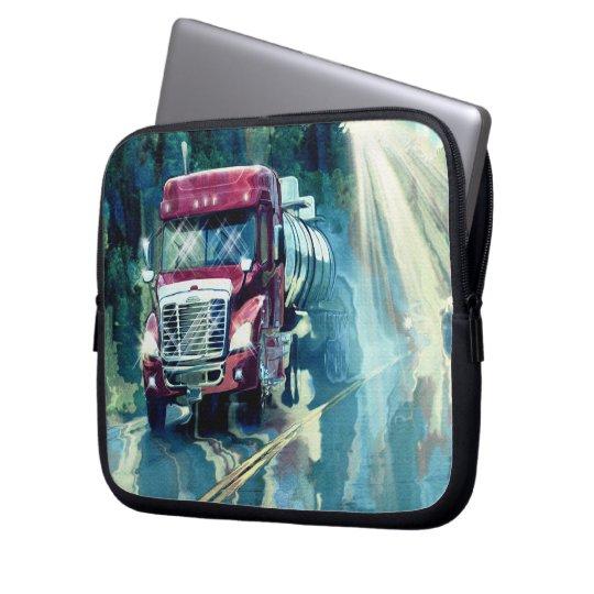 Red Tanker Truck Driver's Art Laptop Sleeve