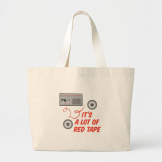 Red Tape Large Tote Bag