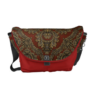 Red Tapestry Messenger Bag