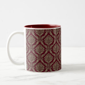 Red Tapestry Plush Coffee Mug