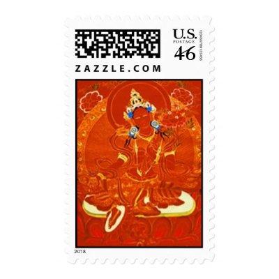 Red Tara Stamp by rainbowdharma
